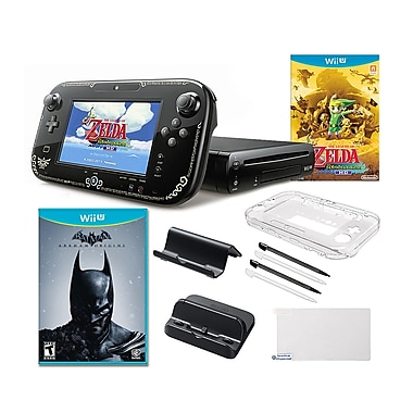 Nintendo® Wii U Zelda and Batman Bundle W/ Games and Accessories
