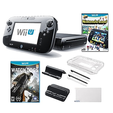 Nintendo® Wii U Nintendo® Land and Watch Dogs Games W/ Gaming Accessories Bundle