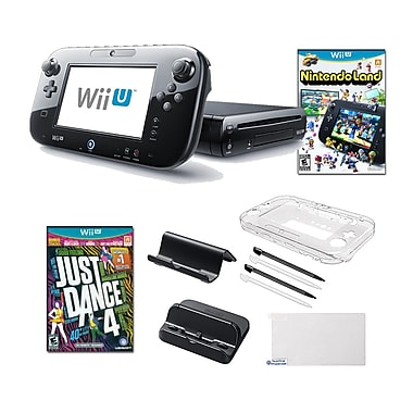 Nintendo® Wii U Nintendo® Land and Just Dance 4 Games W/ Gaming Accessories Bundle