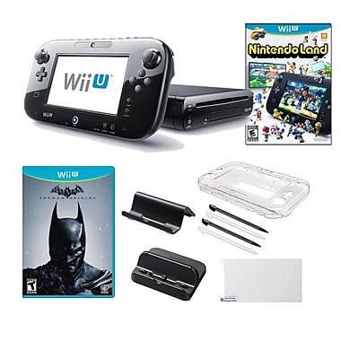 Nintendo® Wii U Nintendo® Land and Batman Games W/ Gaming Accessories Bundle