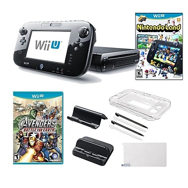 Nintendo® Wii U Nintendo® Land and Marvel Battle For Earth Game W/ Gaming Accessories Bundle