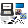 Nintendo® 3DSXL W/ The Amazing Spiderman & Sonic Generation & 17 in 1 Accessories Kit Bundle, Blue