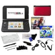 Nintendo® 3DSXL W/ The Amazing Spiderman & Sonic Generation & 17 in 1 Accessories Kit Bundle, Red