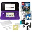 Nintendo® 3DS W/ Sonic Rush and Lego Hary Potter Game and 10 in 1 Accessory Pack Bundle, Purple
