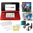 Nintendo® 3DS W/ Sonic Rush and Lego Hary Potter Game and 10 in 1 Accessory Pack Bundle, Red