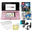 Nintendo® 3DS W/ Sonic Rush and Lego Hary Potter Game and 10 in 1 Accessory Pack Bundle, Pink