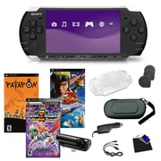 Sony® PSP-3000 Piano Black Bundle W/ 3 Games, Camera, and More