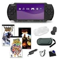 Sony® PSP-3000 Piano Black Bundle W/ 3 Games and Accessories