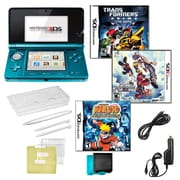Nintendo® 3DS Kingdom Hearts & Naturo Ninja Destiny Games W/ 10 in 1 Accessory Kit, Blue