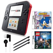 Nintendo® 2DS Bundle W/ 2 Games and Accessories, Red