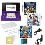 Nintendo® 3DS Kingdom Hearts & Naturo Ninja Destiny Games W/ 10 in 1 Accessory Kit, Purple