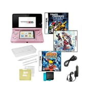 Nintendo® 3DS Kingdom Hearts & Naturo Ninja Destiny Games W/ 10 in 1 Accessory Kit, Pink