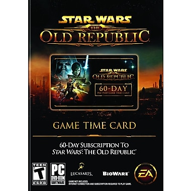 Electronic Arts™ 19796 Star Wars The Old Republic Prepaid Time Card Game, Role Playing, PC