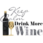 "RoomMates® Keep Calm & Drink Wine Quote Peel and Stick Wall Decal, 9"" x 40"""