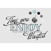"""RoomMates® Time You Enjoy Peel and Stick Quote Clock, 9"""" x 40"""""""