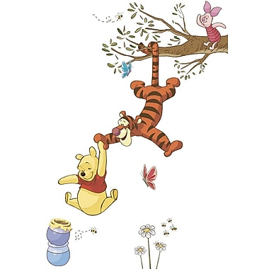 RoomMates® Winnie the Pooh Swinging for Honey Peel and Stick Giant Wall Decal, 18