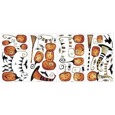 RoomMates® Halloween Pumpkins Peel and Stick Wall Decal, 10