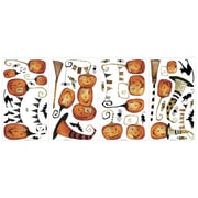 "RoomMates® Halloween Pumpkins Peel and Stick Wall Decal, 10"" x 18"""