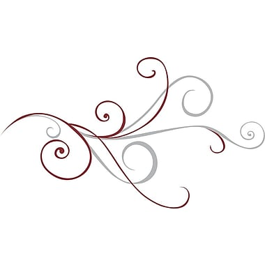 RoomMates® Holiday Scroll Peel and Stick Giant Wall Decal, 51 1/2