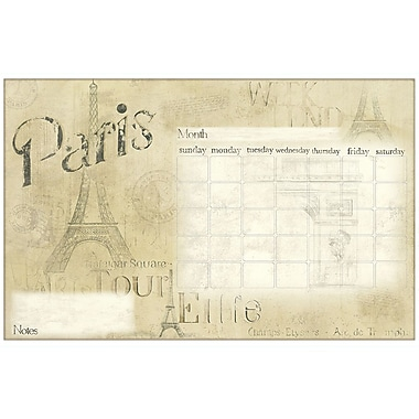 RoomMates® Paris Dry Erase Calendar Peel and Stick Giant Wall Decal, Beige/Tan