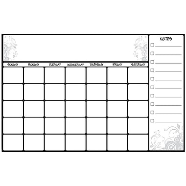 RoomMates® Scroll Dry Erase Calendar Peel and Stick Giant Wall Decal, White