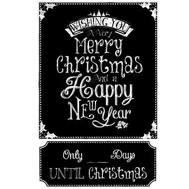 RoomMates® Christmas Countdown Chalkboard Peel and Stick Wall Decal, 27