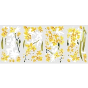"RoomMates® Yellow Flower Arrangement Peel and Stick Wall Decal, 18"" x 10"""