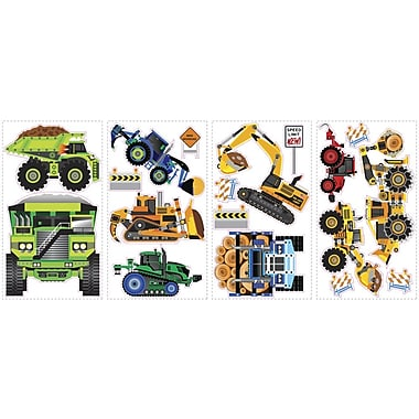 RoomMates® Construction Vehicles Peel and Stick Wall Decal, 10