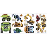 "RoomMates® Construction Vehicles Peel and Stick Wall Decal, 10"" x 18"""