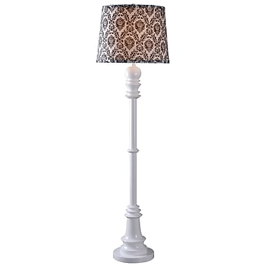 Kenroy Home 150 W 1 Light Gambit Floor Lamp, Gloss White