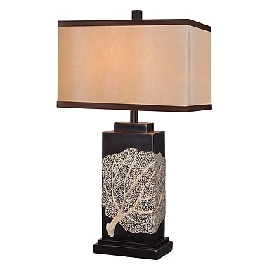 Kenroy Home Sea Fan Table Lamp, Oil Rubbed Bronze