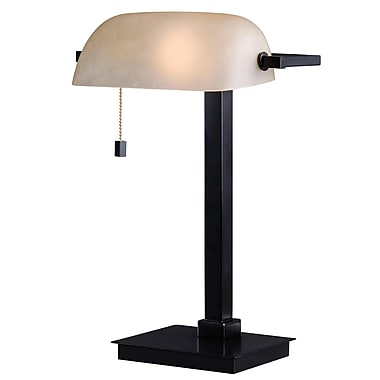 Kenroy Home 60 W 1 Light Wall Street Desk Lamp, Oil Rubbed Bronze