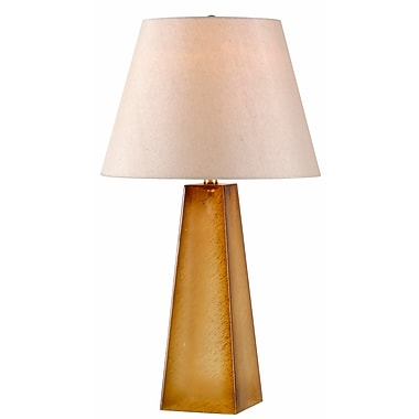 Kenroy Home Vetri Table Lamp, Tan Textured Glass