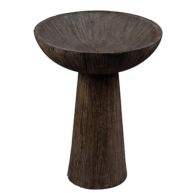 Kenroy Home Forest Bird Bath, Driftwood Finish