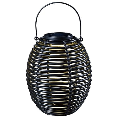 Kenroy Home 1 Light LED Coil Solar Lantern, Rattan
