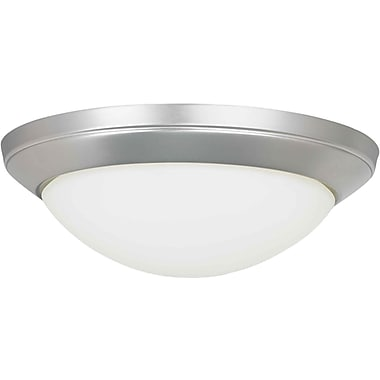 Aurora® 2 Light Flush Mount W/Satin Opal Glass Shade, Brushed Nickel