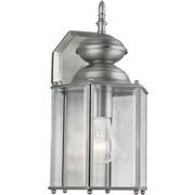 "Aurora® 13"" x 7"" 100 W 1 Light Outdoor Lantern W/Clear Beveled Glass Shade, Olde Nickel"