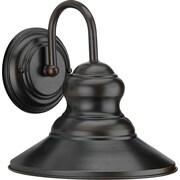 """Aurora® 9 1/2"""" x 9 1/4"""" 100 W 1 Light Outdoor Lantern W/Metal Shade, Antique Bronze"""