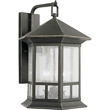 Aurora® 4 Light Outdoor Lantern W/Clear Seeded Glass Shade, Royal Bronze