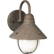 "Aurora® 11 1/2"" x 8"" 100 W 1 Light Outdoor Lantern W/Angle Shade, Desert Stone"