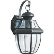 "Aurora® 14"" x 8"" 100 W 1 Light Outdoor Lantern W/Clear Beveled Glass Shade, Royal Bronze"
