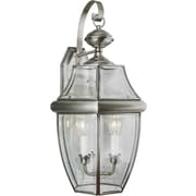 Aurora® 23 x 12 60 W 3 Light Outdoor Lantern W/Clear Beveled Glass Shade, Antique Pewter