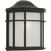 Aurora® 10 x 8 75 W 1 Light Outdoor Lantern W/White acrylic Panel Shade, Black