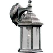 "Aurora® 12"" x 6 1/2"" 100 W 1 Light Outdoor Lantern W/Clear Seeded Glass Shade, River Rock"