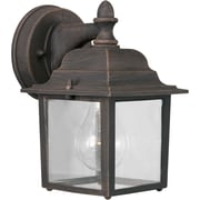 Aurora® 1 Light Outdoor Lantern W/Clear Glass Shade, Painted Rust