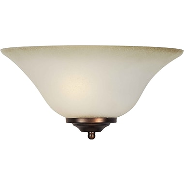 Aurora® 1 Light Wall Sconce With Shaded Umber Glass Shade, Brushed Nickel