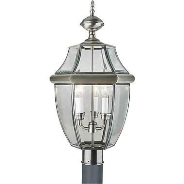 Aurora 24 x 12 60 w 3 light outdoor pendant w clear for 12 x 60 window