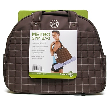 Gaiam® Metro Gym Bag, Chai Brown