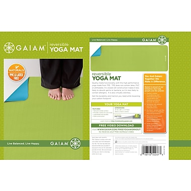 Gaiam® 3mm Reversible Yoga Mats