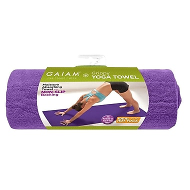 Gaiam® Grippy Yoga Mat Towel, Purple